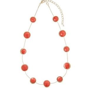 Napier Peach Gem Necklace